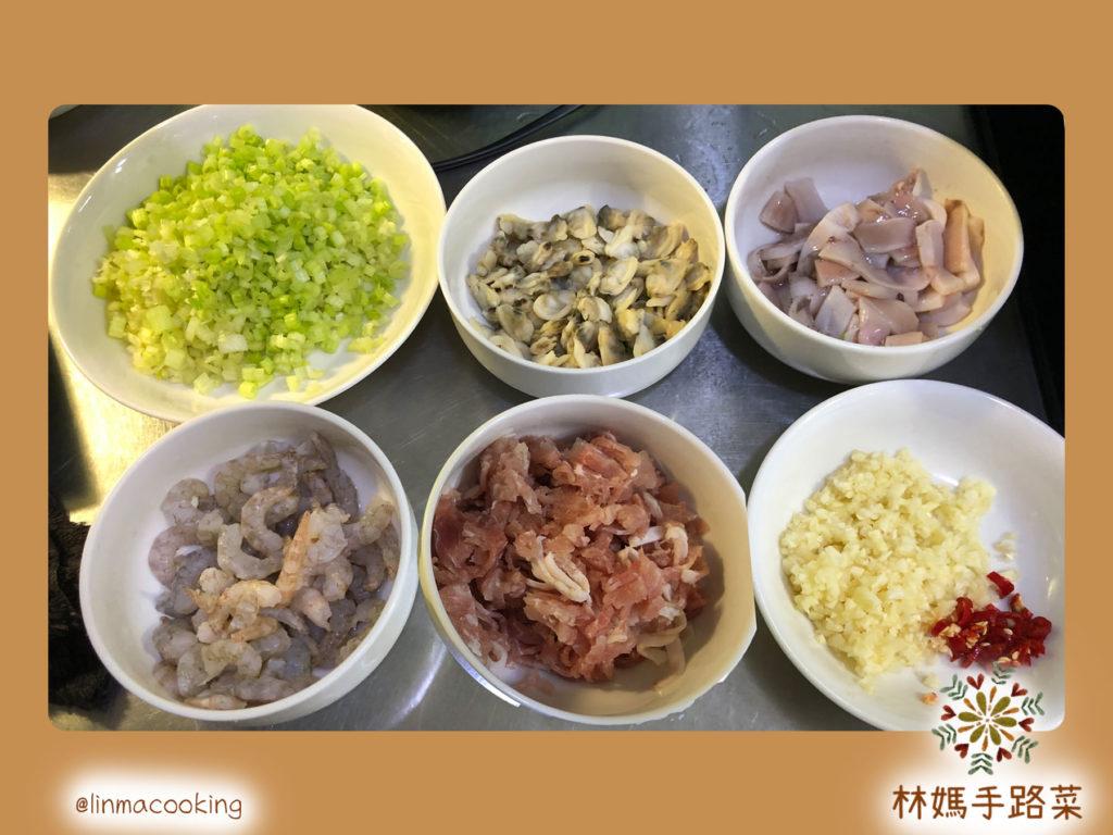 海鮮燴飯 材料圖片
