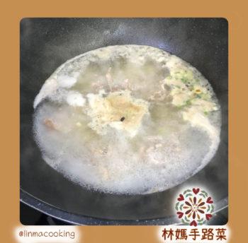 鮮蝦肉絲湯麵步驟